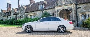 Chauffeur photoshoot Eastwell Manor in Kent
